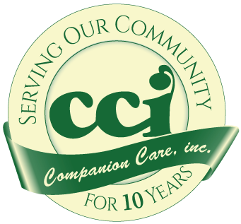 Image: Companion Care, Inc., Serving Our Community for 10 years.